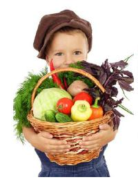 Boy with Veggie basket